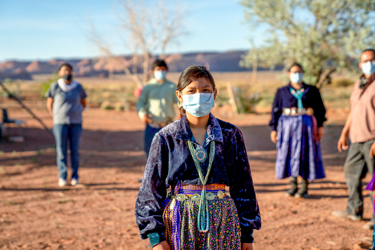 Members of the Navajo Nation wearing masks during the COVID-19 pandemic
