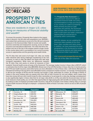 Prosperity In American Cities Cover Page