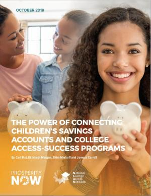 The Power of Connecting Children's Savings Accounts and College Access-Success Programs report cover