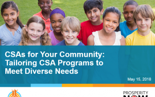 "Image for ""CSAs For Your Community"" webinar."