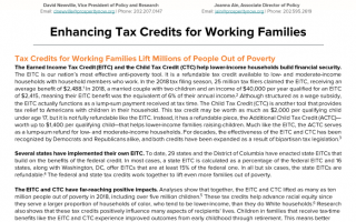 Enhancing Tax Credits for Working Families cover page