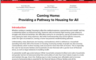 Coming Home: Providing a Pathway to Housing for All