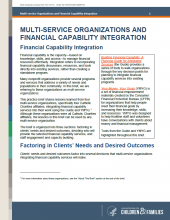 Multi-Service Organizations and Financial Capability Integration