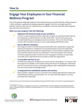 How to: Engage Your Employees in Your Financial Wellness Program