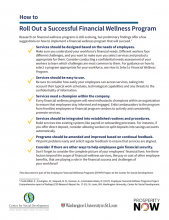 How to: Roll Out a Successful Financial Wellness Program