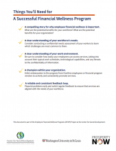 Things You'll Need for a Successful Financial Wellness Program