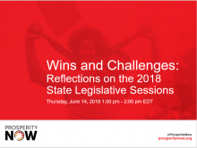 Wins and Challenges: Reflections on the 2018 State Legislative Sessions (Slides)