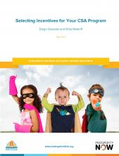Selecting Incentives for Your CSA Program